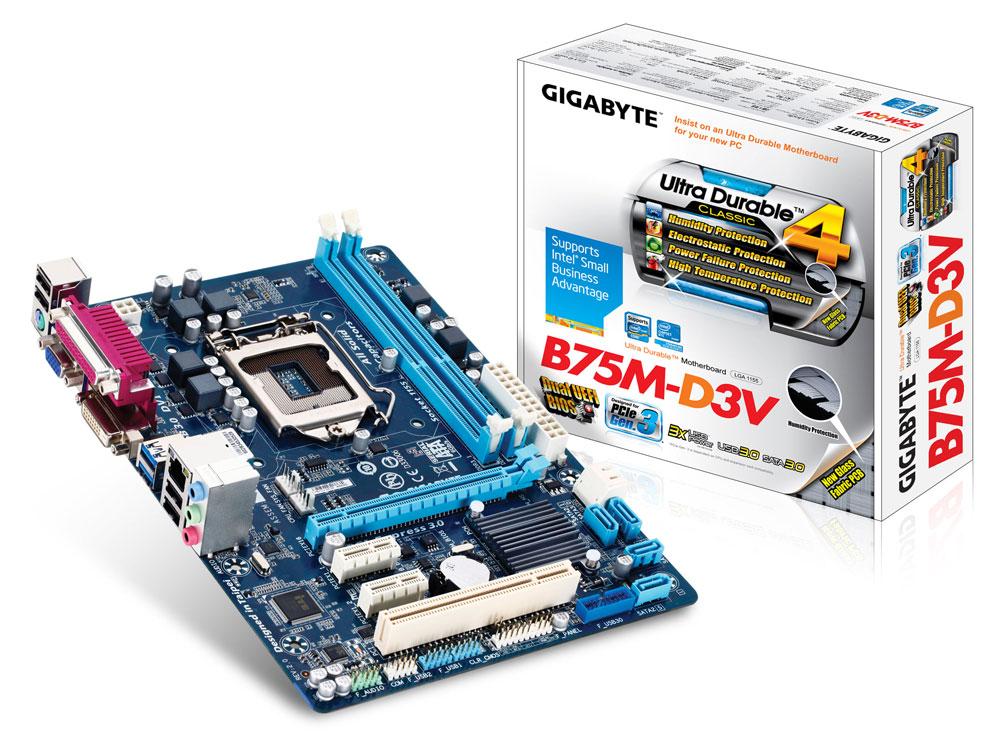 GA-B75-D3V + I7-2600 + 8G Ram